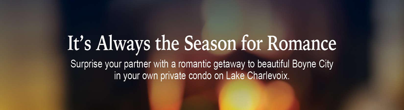romantic getaway banner