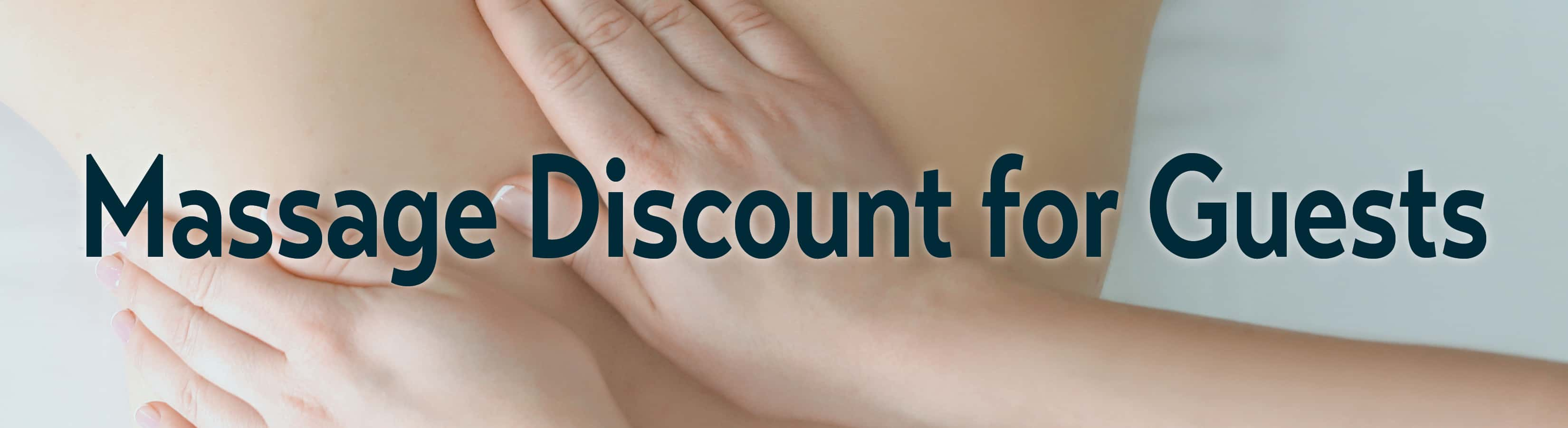 massage discount for guests at water street inn